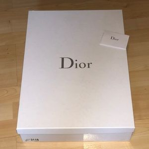 DIOR Shoe Box, Care Pamphlet & Tissue Paper